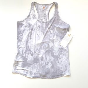 Lucy Marbled Smoke Gray Racerback Tank Top XL